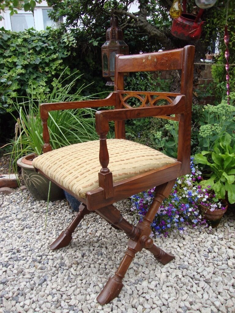 Unusual beautifully ornate solid timber upholstered for Unusual chairs