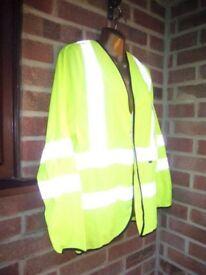Hi Viz Long Sleeved Safety Riding Vest Top