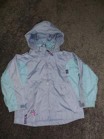Target Dry Lightweight zip up showerproof coat 3-4 years
