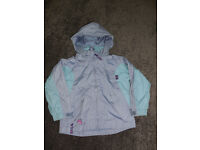 Target Dry Lightweight zip up showerproof coat 3-4 years