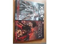 2 x Marvel graohic novels X-men and Death of dracula