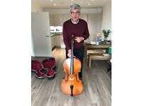 Full sized cello in excellent condition with bow and case