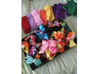 Job lot of Headbands, Bows and Baby barefoot sandals, all new.