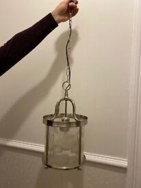John Lewis Warwick Lantern light in chrome - Morningside, Edinburgh
