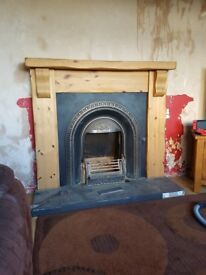 Mexican pine fireplace with queenstar all night burner