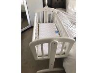 Mamas and Papas Crib, Matress, Cover