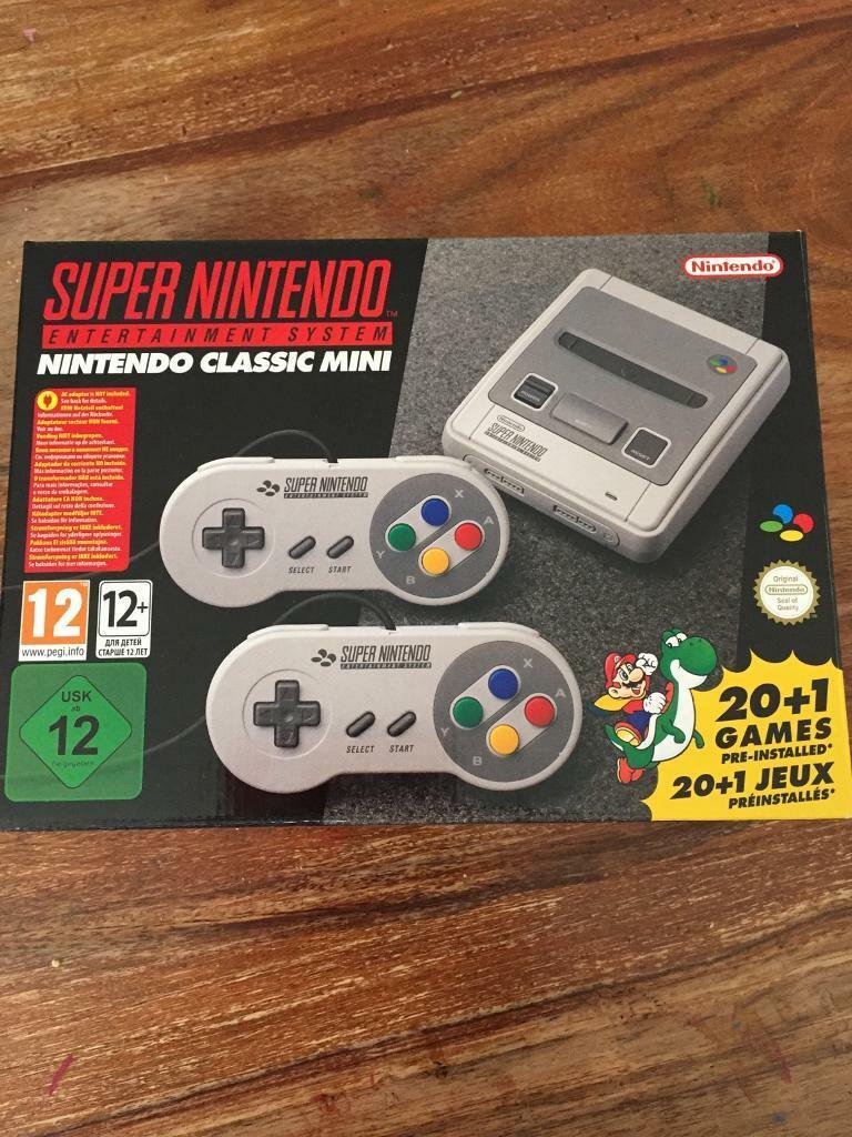 Super Nintendo SNES mini classic brand new and in box