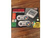 Super Nintendo SNES mini classic brand new and in box
