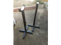 Marcy SC8 Spotter Catchers with Weight Bench