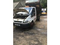 Braking ford transit tipper