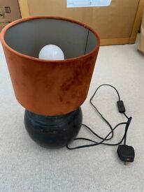 Vinegar Hill Lamp - Suede Lamp Shade