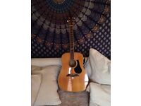 Alvarez AD60 Acoustic Guitar with case and capo