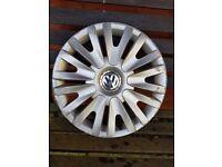 Genuine VW Golf 15 inch wheel trim hub cap hubcap Volkswagen