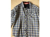 Boys John Lewis blue checked shirt. Age 5