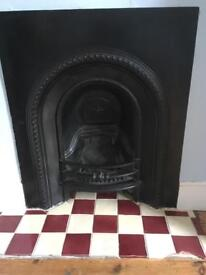 Old Victorian period fireplace