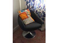 designer retro funky style swivel chair