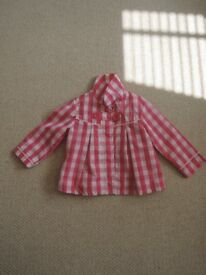 Pink & white Girl lightweight jacket 12-18 months