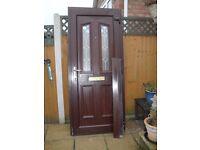 ATTRACTIVE MAHOGANY UPVC DOUBLE GLAZED FRONT DOOR