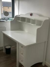 White Desk, Dressing Table, Vanity Desk