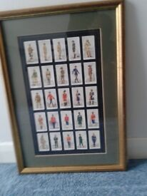CIGARETTE CARDS IN FRAMED PICTURE