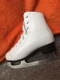 White Galaxy Ice Skates - size 1