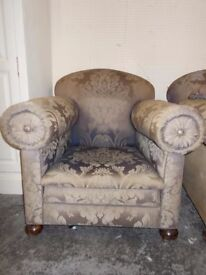 MATCHING GEORGIAN ARM CHAIRS RESTORATION PROJECT FREE LOCAL DELIVERY AVAILABLE