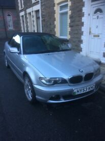Winter bargain BMW 318 convertible