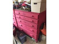 Vintage school art drawers
