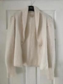 Monsoon white cardigan - size 14
