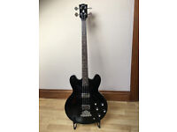 Gibson Custom Memphis ES335 Bass Guitar Ebony