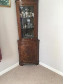 Corner wooden cabinet