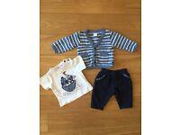 Baby boy outfit (3 parts), Jasper Conran, 0-3m.