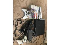 Xbox 360 & 12 games including FIFA18 & GTA 5