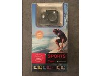 BRAND NEW Sports Cam HD 1080p Wide Angle Camera With Accessories 30m Waterproof
