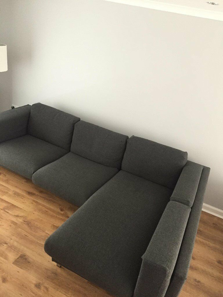 Ikea grey nockeby corner sofa in glenrothes fife gumtree for Ikea corner sofa