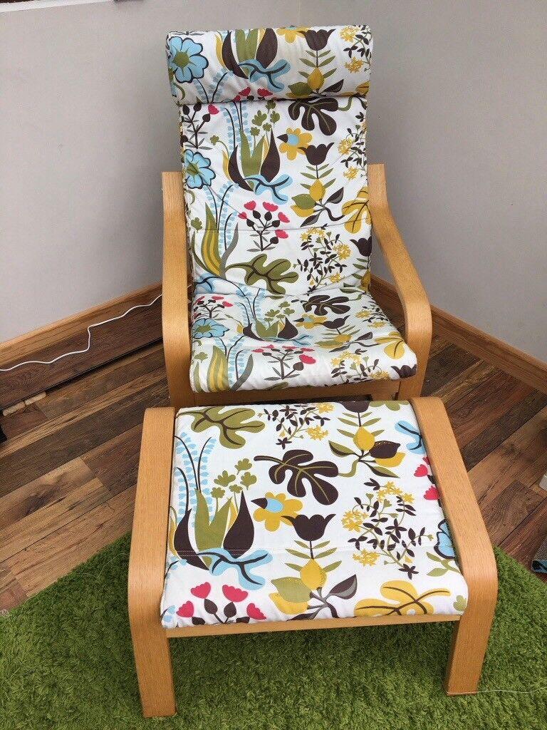 Ikea Armchair and footstool set | in Newport | Gumtree