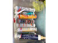 Silicone, glue, caulk etc