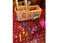 Barbie Doll Horse an Trailer Set with Accessories