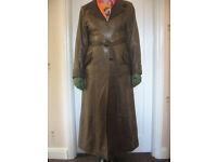 Leather coat, leather dress etc.
