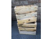 Garden Fruit/Veg boxes 100% Recycled Timber