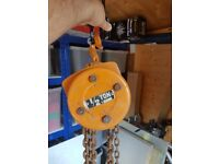 1/2 Ton (500kgs) chain hoist block and tackle pulley block engine lift