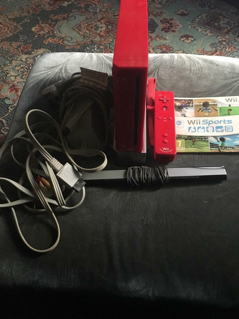 Spares or repairs Red Nintendo wii