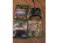 Xbox One (500Gb) with FIFA 17, Grand Theft Auto, Call of Duty - Controller & headset