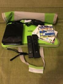 Wii games console and Wii fit