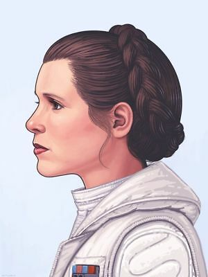 Mondo Star Wars Art Print Poster Princess Leia Carrie Fisher Mike Mitchell Hope