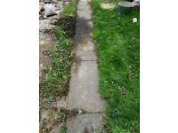 council paving slabs - 2ft6 X 2ft