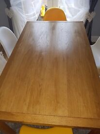 Panton s chairs +extending dining table