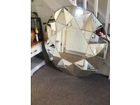 Large Julien MacDonald Mirror NEW BOXED RRP £250 Large Wall Mirror Chunky Round Mirror