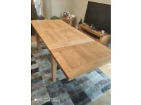 Extendable Oak Dining Table and 4 Chairs