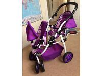 Ella Tandem Dolls Stroller/Pushchair
